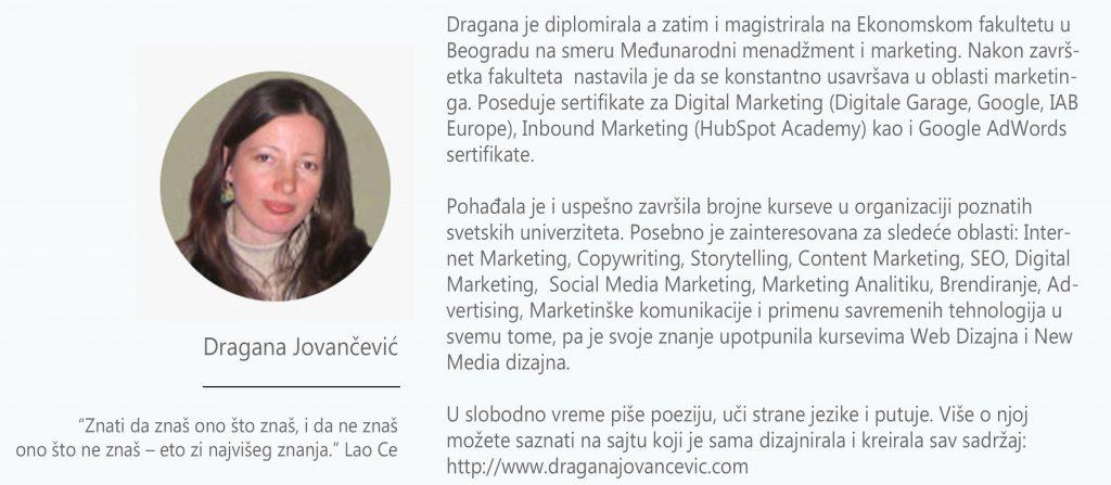 Dragana Jovancevic biografija