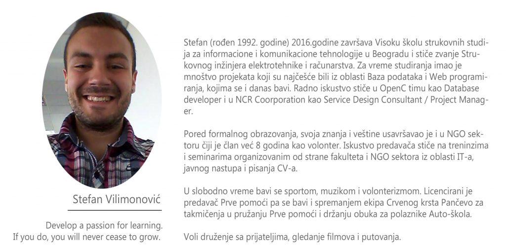Stefan VIlimonovic biografija